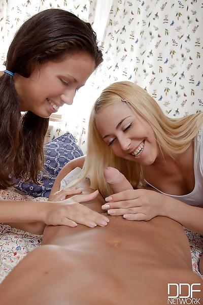 Young girls Anabela and..
