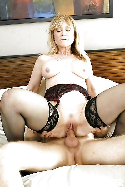 Mature mom Nina Hartley is..