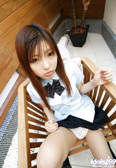 Filial asian schoolgirl gets..