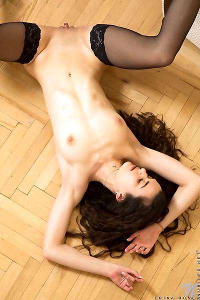 Skinny young girl Erika Rose..